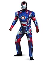Disguise Marvel Iron Man 3 Iron Patriot Deluxe Mens Adult Costume Blue/Red/X-Large/42-46 AD