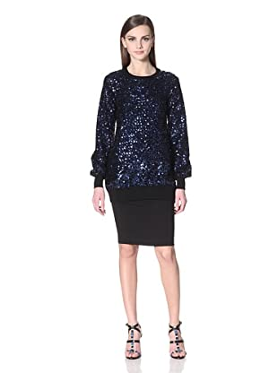 Versus Women's Sequined Pullover (Midnight)