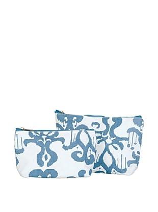 RockFlowerPaper Persia Azure Zip Bags (Set of 2)