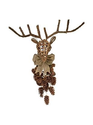 Melrose International Pinecone Deer Trophy, Brown