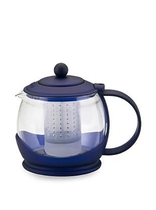 BonJour 40-Ounce Prosperity Glass Teapot (Azure Blue)