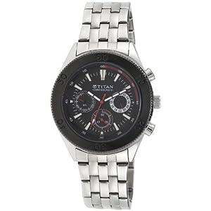 Titan Octane Chronograph Black Dial Men's Watch - NE9324KM01J