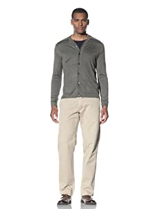 Cruciani Men's Two Pocket Cardigan (Olive Green)