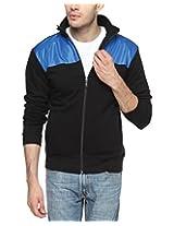 Campus Sutra Black and Royal Blue Mens Jacket (AW15_JK_M_P10_BLRB_XL)