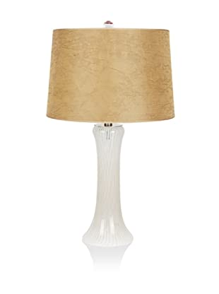 Viz Art Glass Tower Table Lamp (White/Clear)