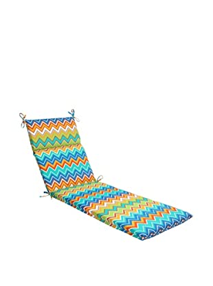Pillow Perfect Outdoor Zig Zag Chaise Lounge Cushion, Orangeaide