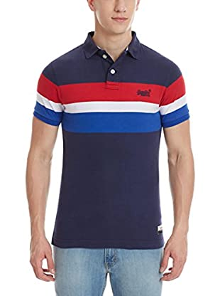 Superdry Polo Triband Chest Stripe