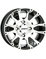 4/115 STI C7 HD Alloy Wheel 12x7 5.0 + 2.0 Machined ARCTIC CAT
