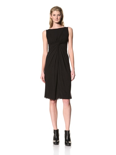 RICK OWENS Women's Front Drape Dress (Black)