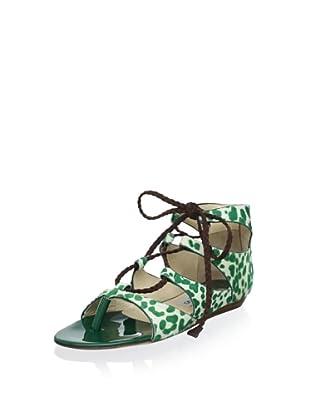 Jimmy Choo Women's Ginny Flat Sandal (Green)