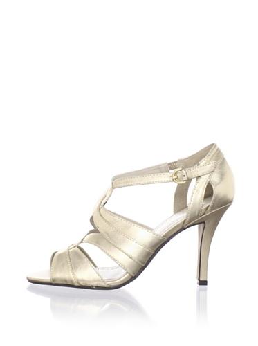 Adrienne Vittadini Women's Geraldine Twisted Sandal (Gold)