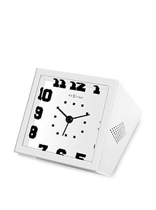 NeXtime Be Square Table Clock (White/Black)