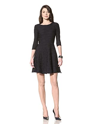 Donna Morgan Women's Alice Full Skirt Dress (Black/Dark Grey)