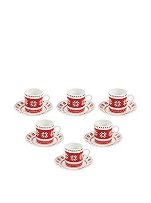 GALILEO Espressotasse mit Untertasse 6er Set Poisonette