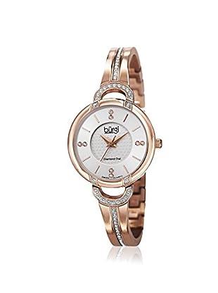 Burgi Women's BUR105RG Crystal Bangle Rose-Tone Stainless Steel Watch