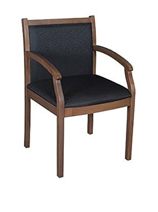 Regency Regent Wood & Fabric Side Chair, American Walnut/Black