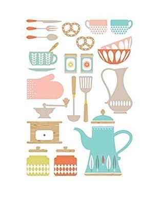 Ambiance Live Wandtattoo Kitchenware mehrfarbig