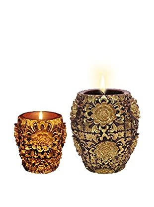 Volcanica Set of 2 Dendritic Vase Candles