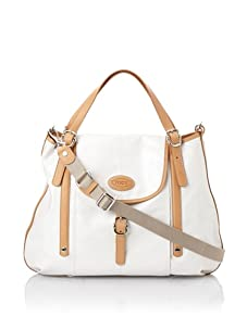 Tod's Women's Flap-Top Tote, Cream/Tan