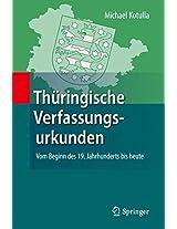 Thüringische Verfassungsurkunden: Vom Beginn des 19. Jahrhunderts bis heute