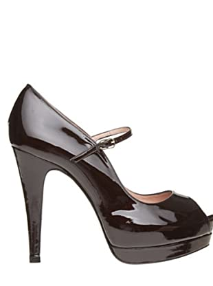 Magrit Zapatos Peep Toe (Chocolate)