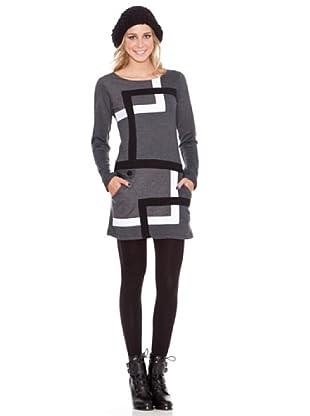 HHG Vestido Francesca (gris/bco)