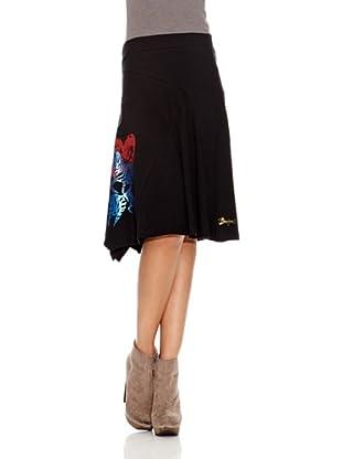 Desigual Falda Lucita (Negro Estampado)