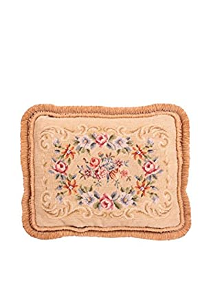Needlepoint Pillow, Tan/Multi