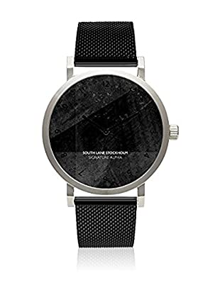 South Lane Reloj de cuarzo Unisex Signature Alpha Black Steel 40 mm