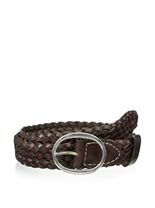 Ben Sherman Men's Plectrum Woven Leather Belt (Chocolate)