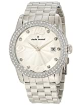 Claude Bernard Women's 70161 3PM AN Ladies Fashion Silver Dial Swarovski Stainless Steel Watch