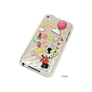 レイアウト 4th iPod touchシリーズ用ディズニーキャラクターキラキラソフトジャケット/ミニー RT-DT4B/MN