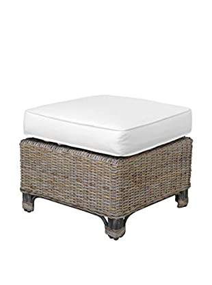 Panama Jack Exuma Ottoman With Cushion, Kubu Grey
