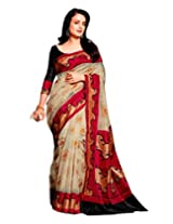 AASRI Women Party Wear Bhagalpuri Silk Fancy Saree With Blouse Piece