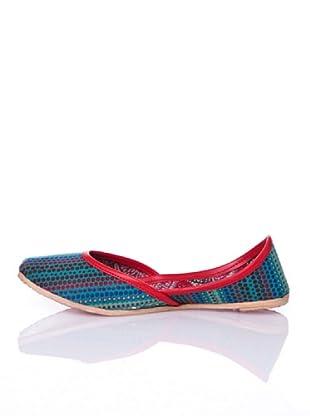Sigris Zapatos Estampado Topos (Azul)