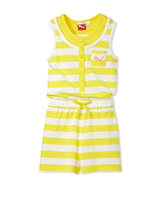 PUMA Girl's 2-6x Striped Romper (Yellow)