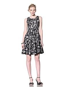Bensoni Women's Lace Princess Dress (Black/White)