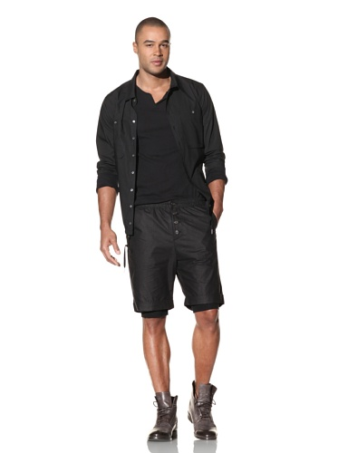 Nicholas K Men's Dockery Cotton Poplin Short (Black)