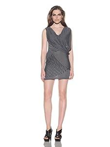 under.ligne by Doo.Ri Women's Helix Striped Dress (Grey/Black)