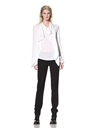Ann Demeulemeester Women's Drape-Front Top (White)