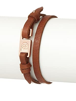 Griffin Tan Harrison Leather Double-Wrap Bracelet