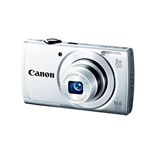 Canon PowerShot A2500 16MP Point and Shoot Camera (Silver) with 5x Optical Zoom, Memory Card and Camera Case