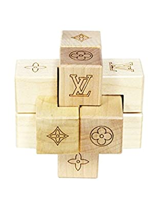 Louis Vuitton Le Patecki Wood Cube Game Set, Brown/Tan
