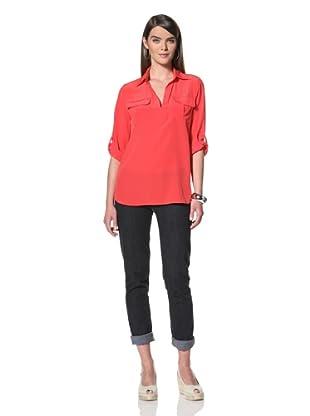 Acrobat Women's Cargo Pocket Shirt (Red)