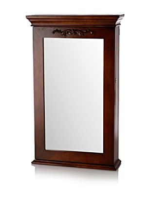 Nathan Direct Morris Wall Armoire With Lock, Coffee