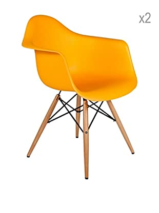 Lo+deModa Set De 2 Sillas Dimero Color Edition Naranja