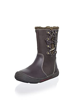 Billowy Kid's Size-Zip Boot (Brown)
