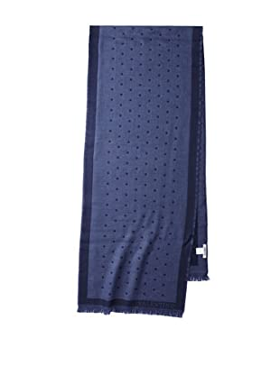 Valentino Women's Wool Polka Dot Scarf, Navy