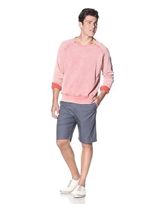 Slate & Stone Men's Turan Garment Washed Pique Sweatshirt (Salmon)