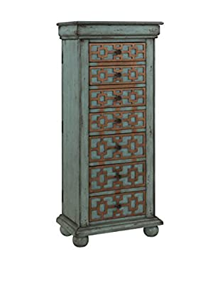 Coast To Coast Jewelry Armoire, Keller Blue/Gold